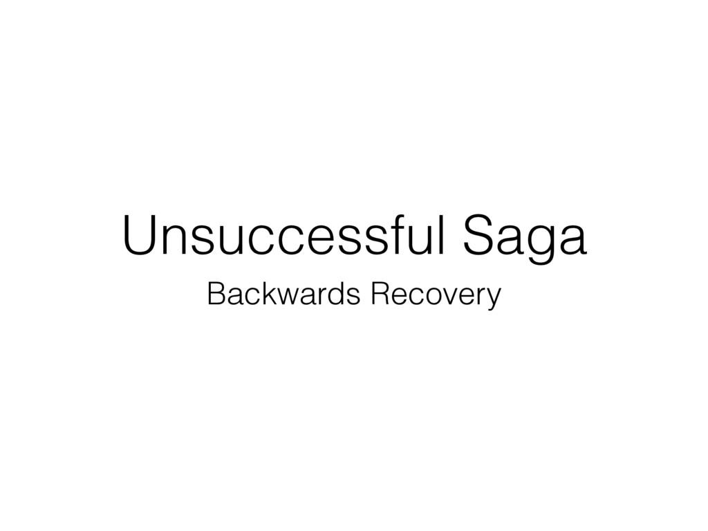 Unsuccessful Saga Backwards Recovery
