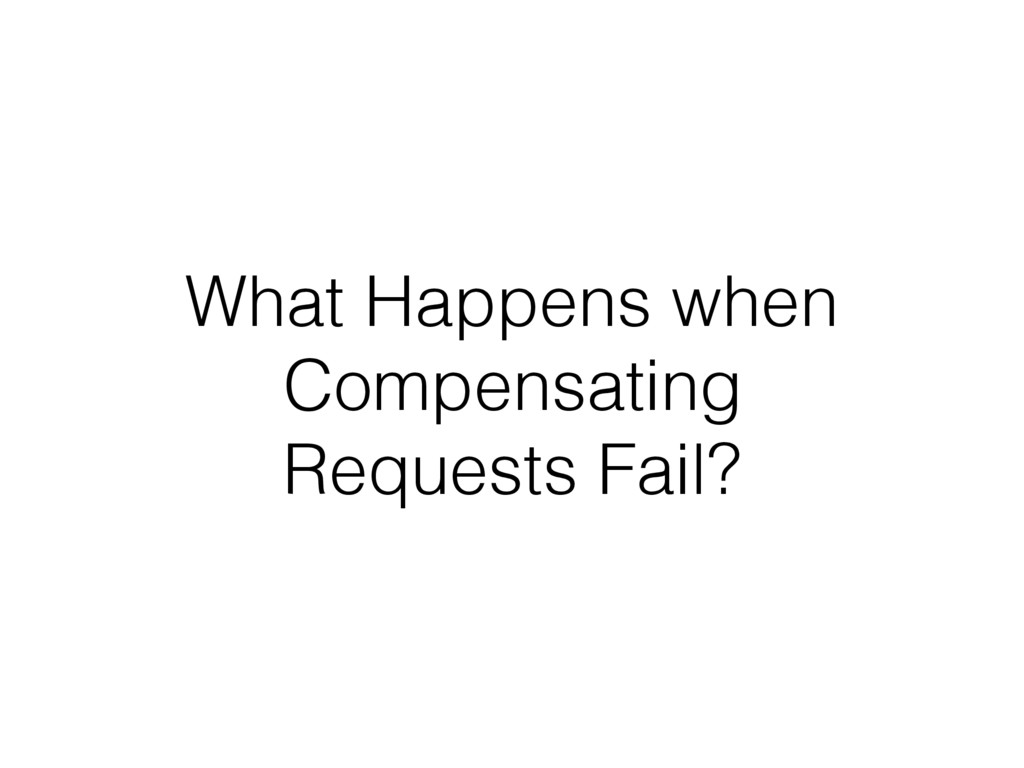 What Happens when Compensating Requests Fail?
