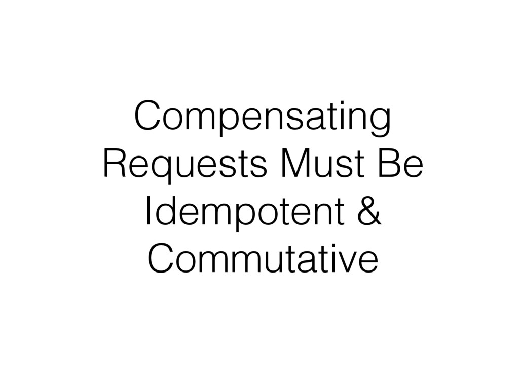 Compensating Requests Must Be Idempotent & Comm...