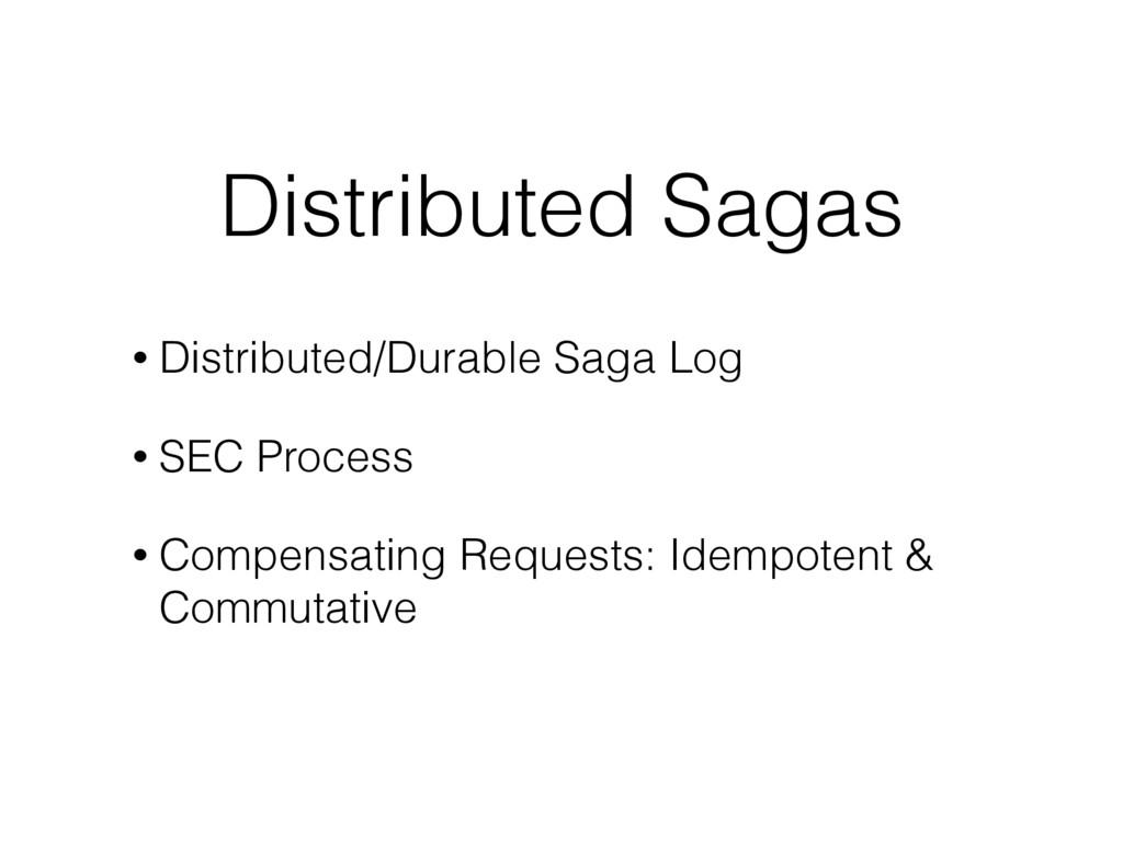 Distributed Sagas • Distributed/Durable Saga Lo...