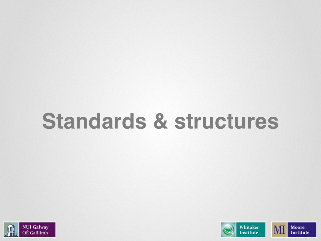 Standards & structures