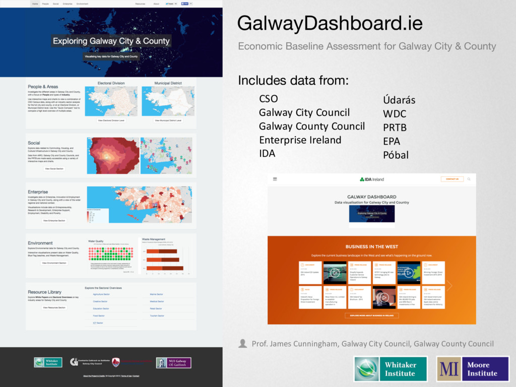 GalwayDashboard.ie Includes data from: CSO Galw...