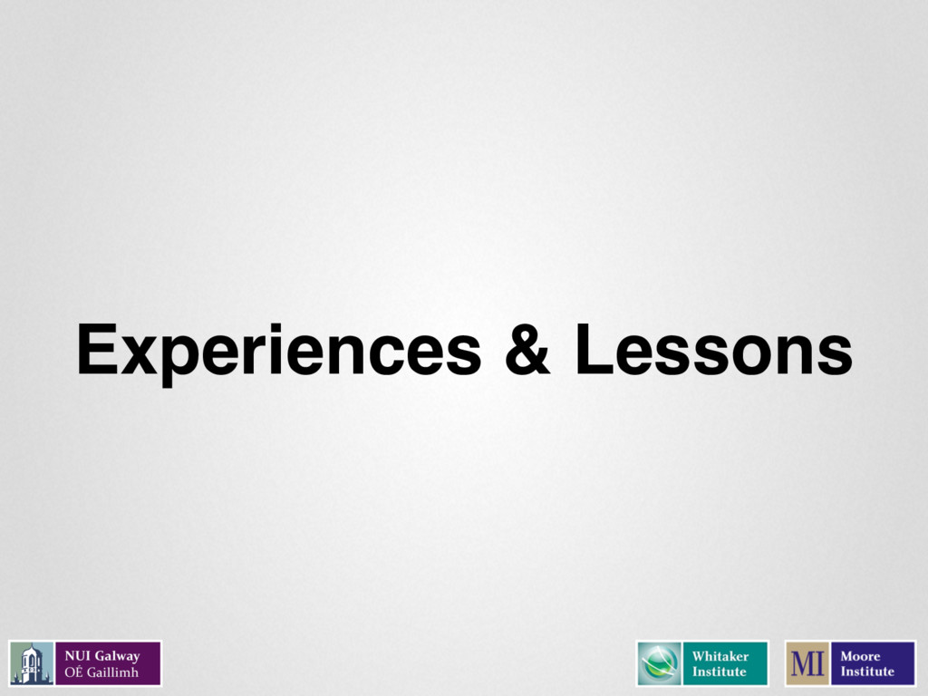 Experiences & Lessons