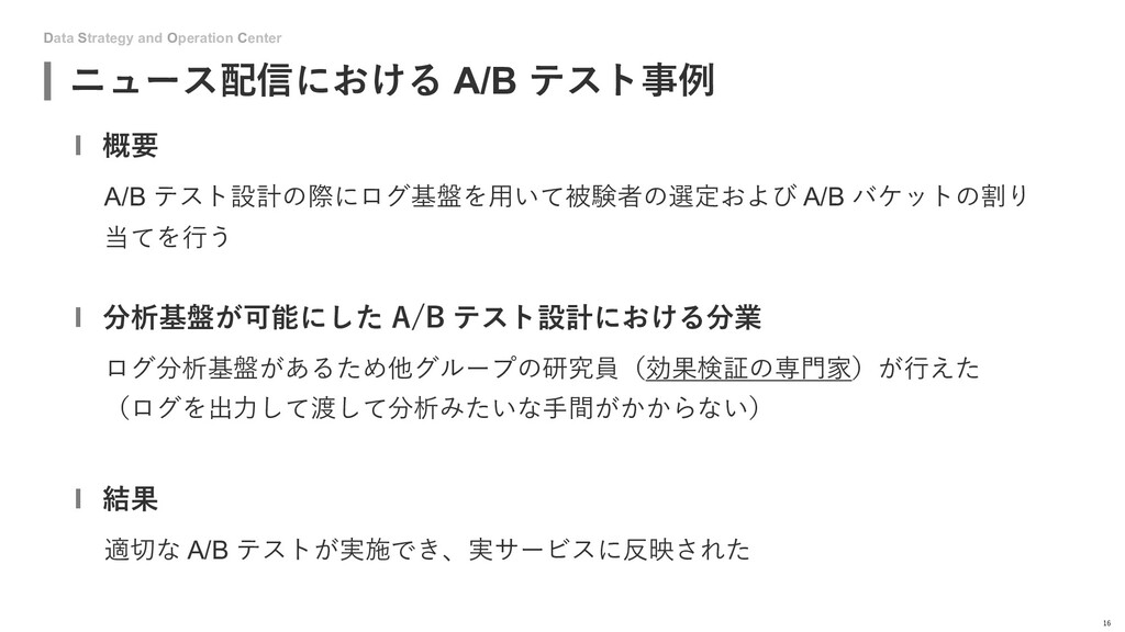 Data Strategy and Operation Center ニュース配信における A...