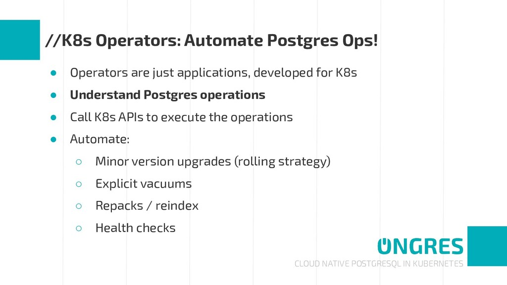 CLOUD NATIVE POSTGRESQL IN KUBERNETES //K8s Ope...