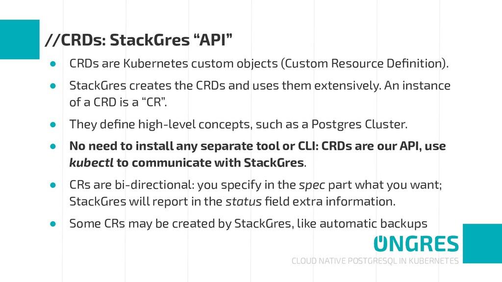 CLOUD NATIVE POSTGRESQL IN KUBERNETES //CRDs: S...