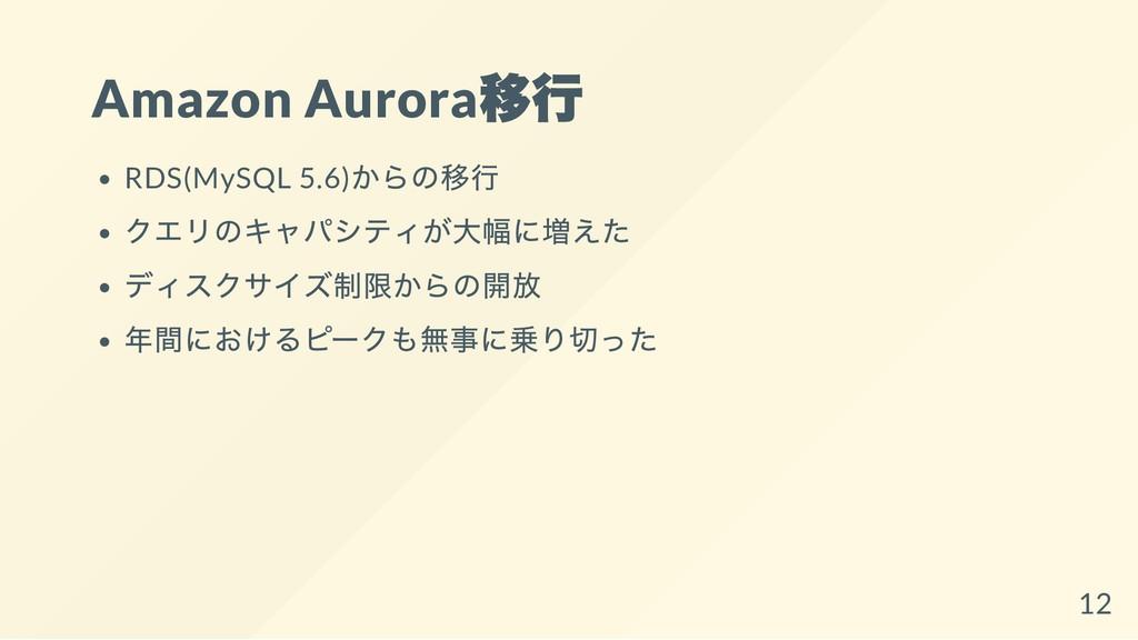 Amazon Aurora 移行 RDS(MySQL 5.6) からの移行 クエリのキャパシテ...