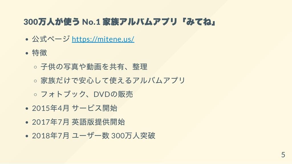 300 万人が使う No.1 家族アルバムアプリ「みてね」 公式ページ https://mit...