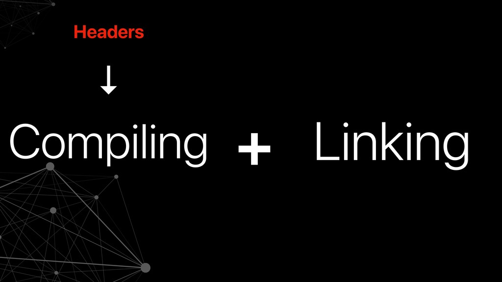 Compiling Linking + Headers ↓
