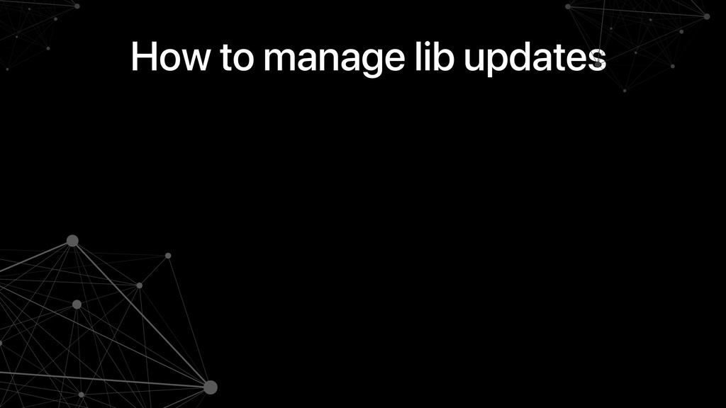 How to manage lib updates