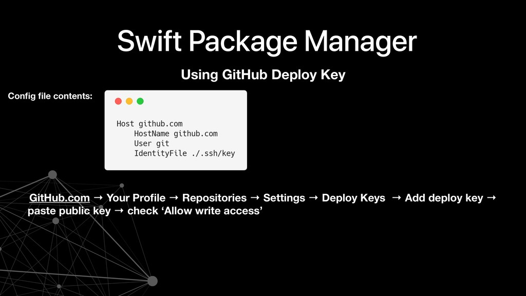 Swift Package Manager Using GitHub Deploy Key C...