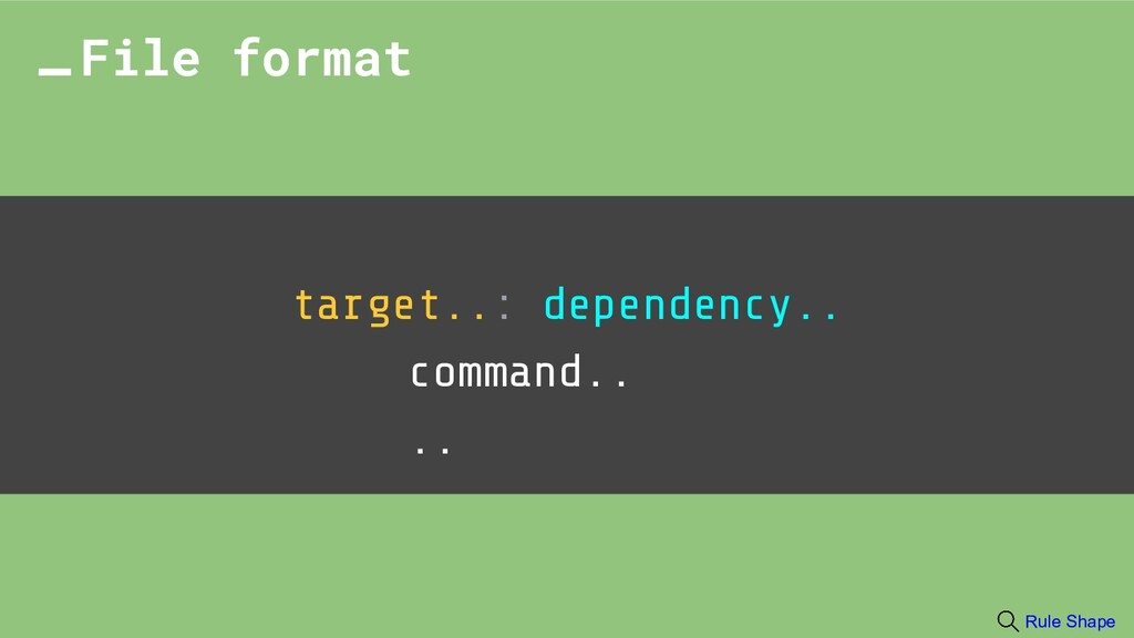 target..: dependency.. command.. .. File format...