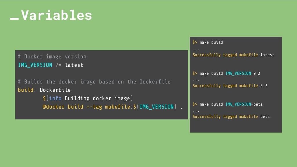 # Docker image version IMG_VERSION ?= latest # ...