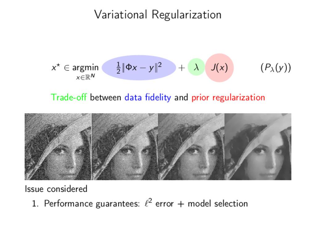 Variational Regularization x ∈ argmin x∈RN 1 2 ...