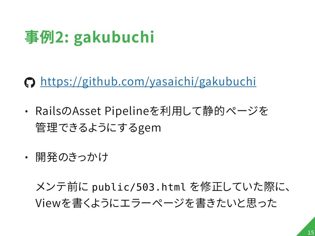 事例2: gakubuchi https://github.com/yasaichi/gaku...