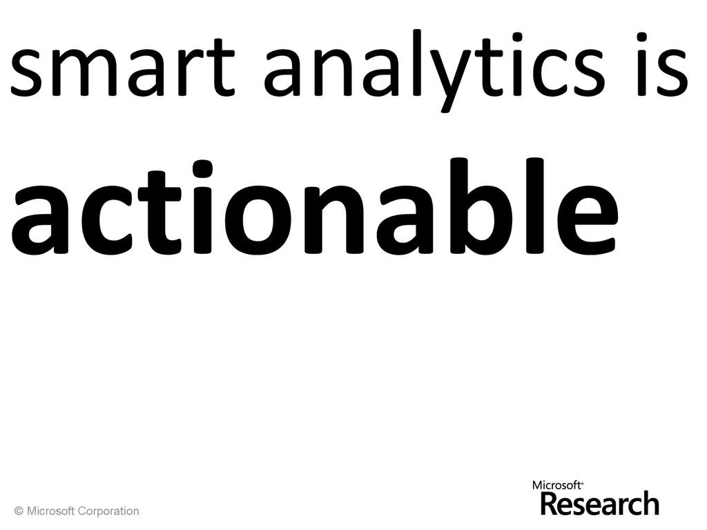© Microsoft Corporation smart analytics is acti...