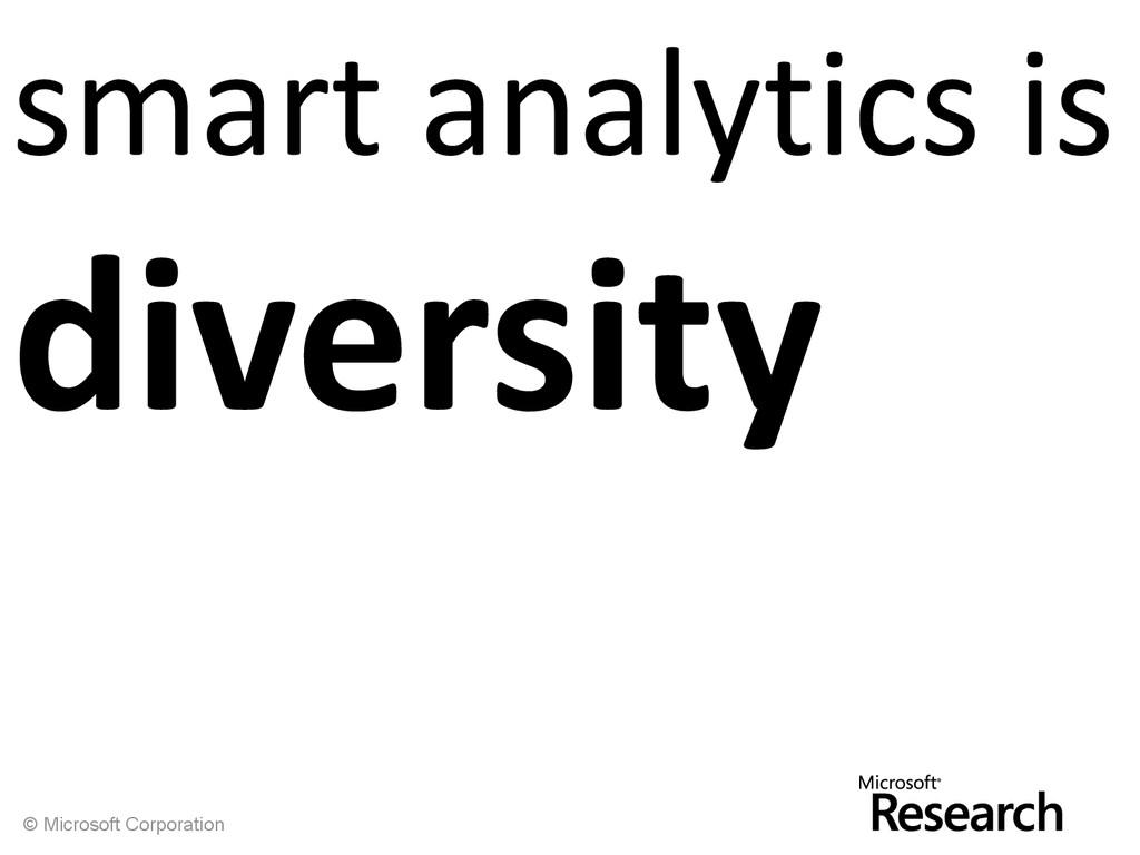 © Microsoft Corporation smart analytics is dive...