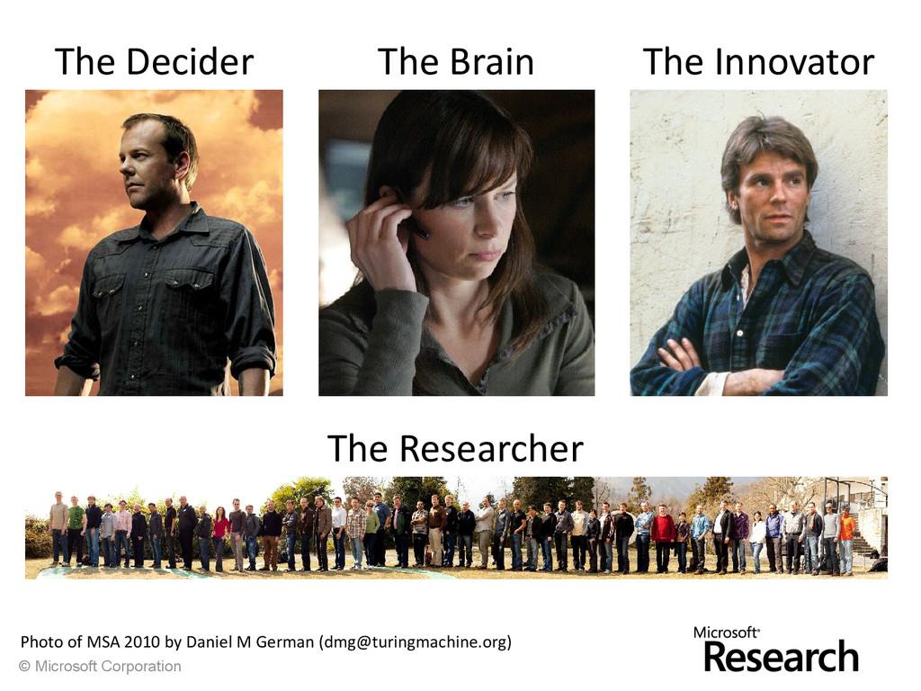 © Microsoft Corporation The Decider The Brain T...