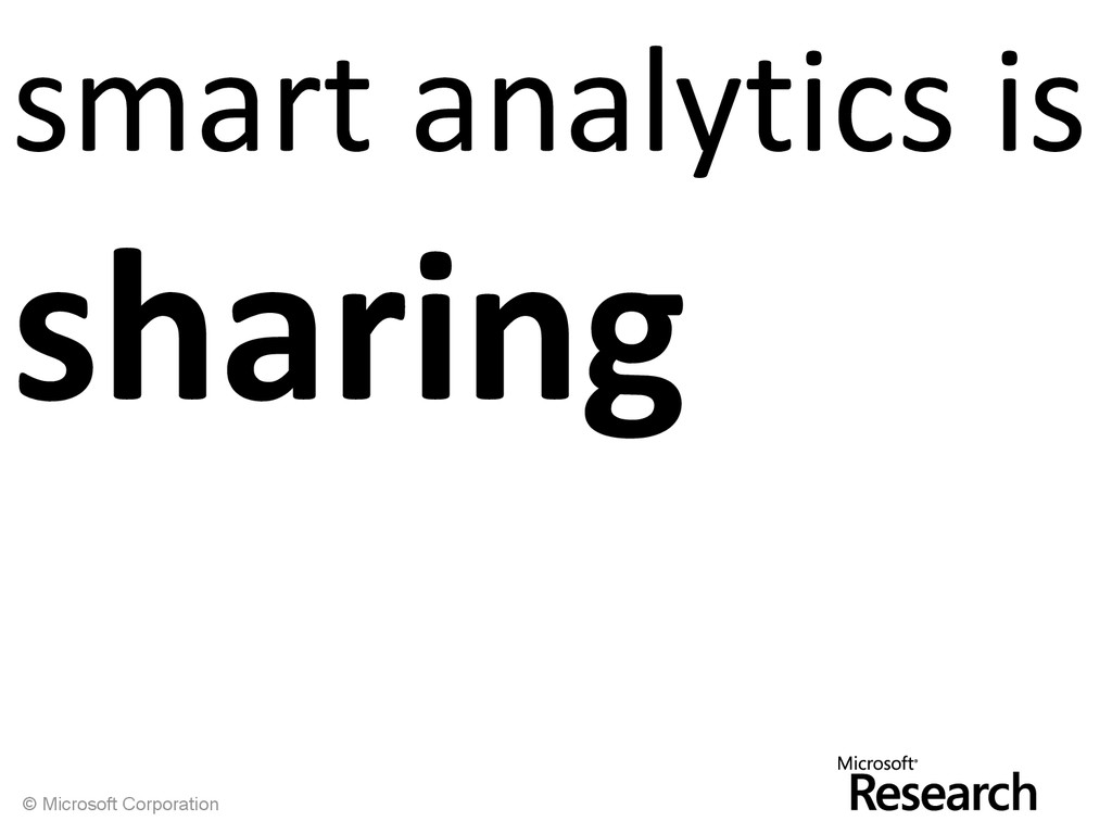 © Microsoft Corporation smart analytics is shar...