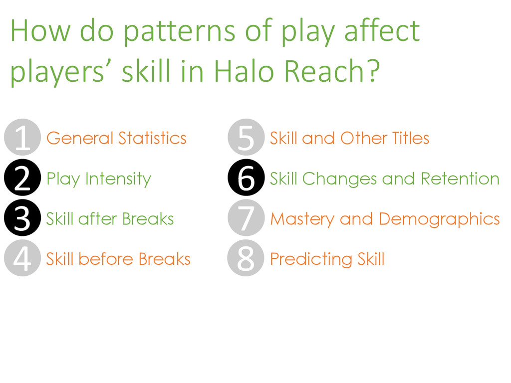 How do patterns of play affect players' skill i...