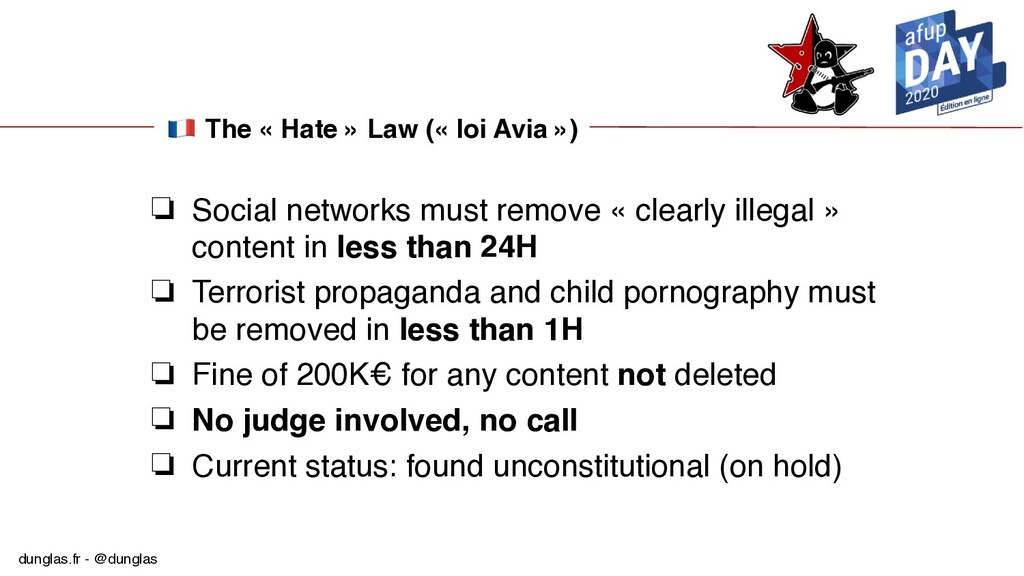 dunglas.fr - @dunglas  The « Hate » Law (« loi ...