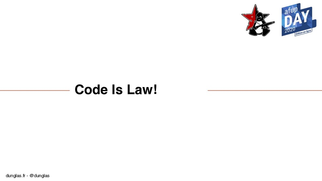 dunglas.fr - @dunglas Code Is Law!