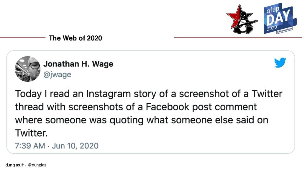 dunglas.fr - @dunglas The Web of 2020