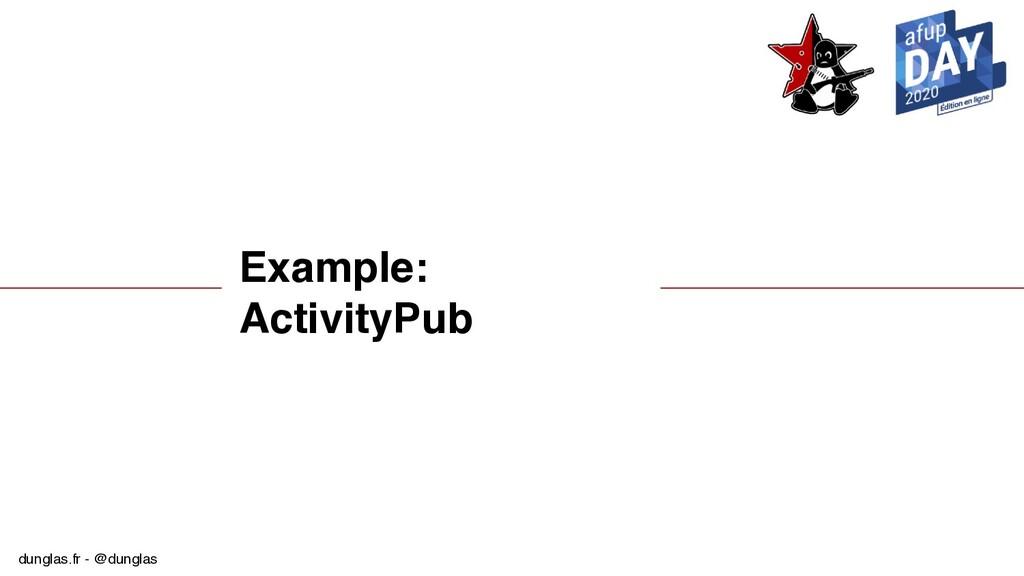 dunglas.fr - @dunglas Example: ActivityPub