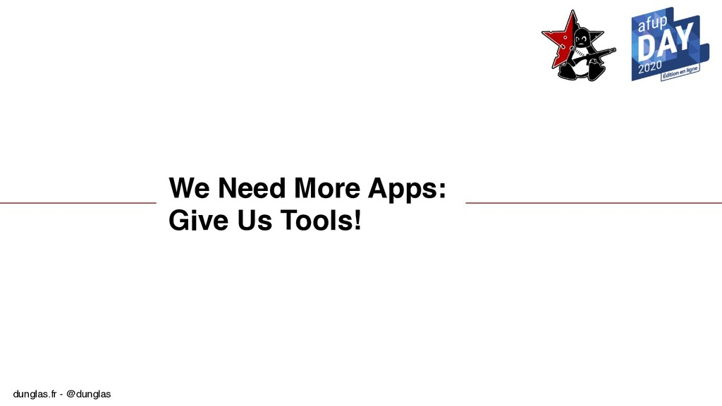 dunglas.fr - @dunglas We Need More Apps: Give U...