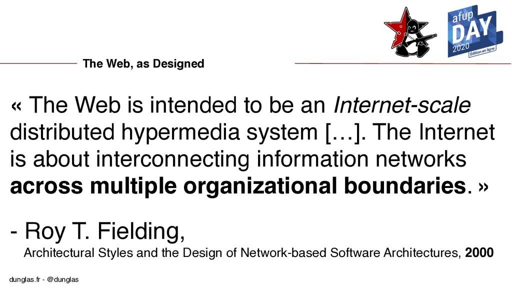 dunglas.fr - @dunglas The Web, as Designed « Th...