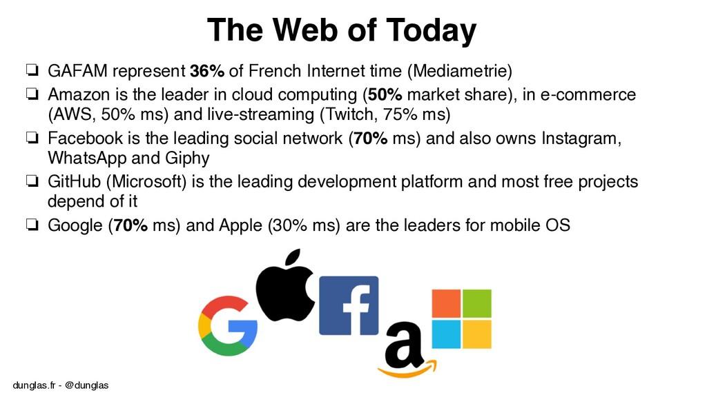 dunglas.fr - @dunglas The Web of Today ❏ GAFAM ...
