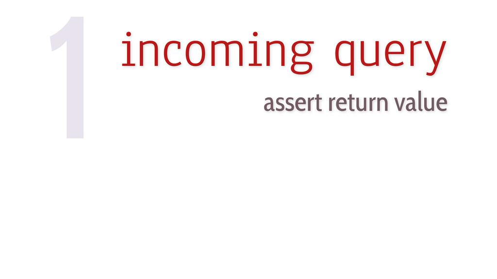 1incoming query assert return value