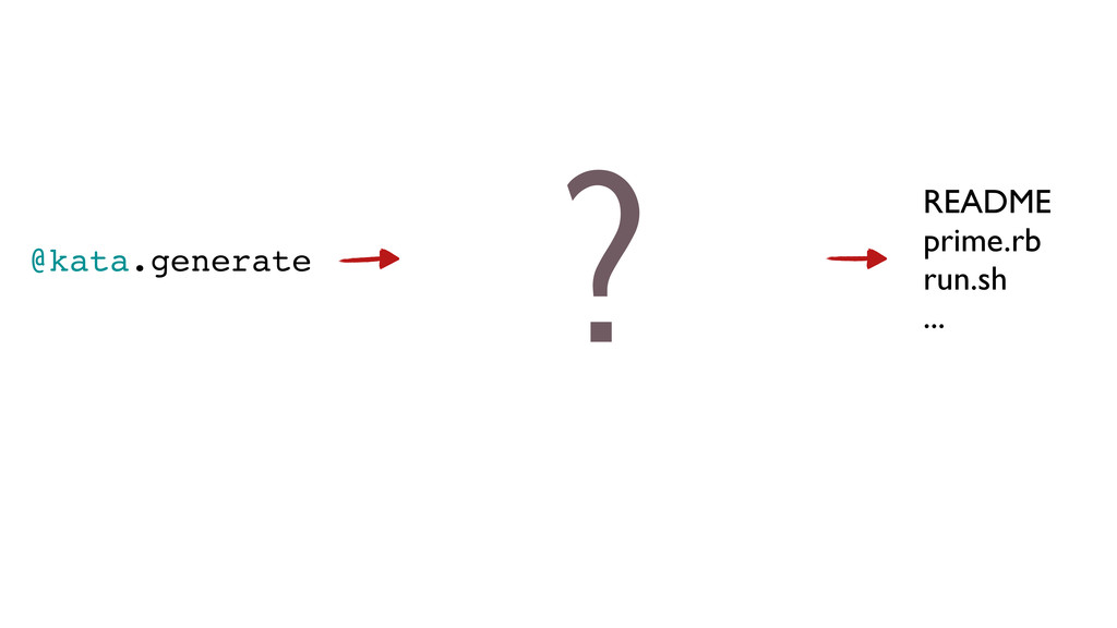 @kata.generate README prime.rb run.sh ... ?