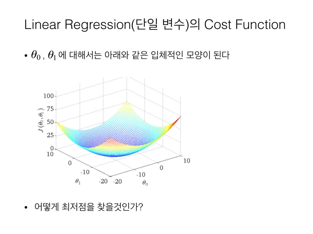 Linear Regression(ױੌ ߸ࣻ) Cost Function • , ী ...