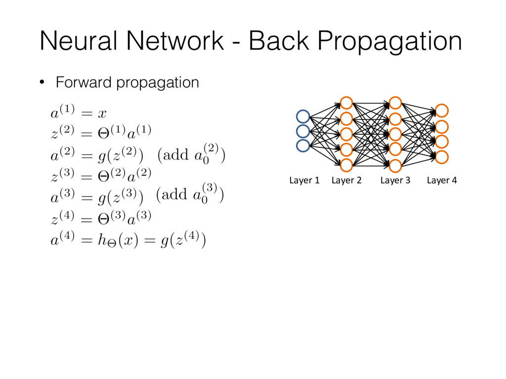 Neural Network - Back Propagation • Forward pro...