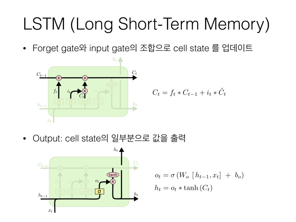 LSTM (Long Short-Term Memory) • Forget gate৬ in...