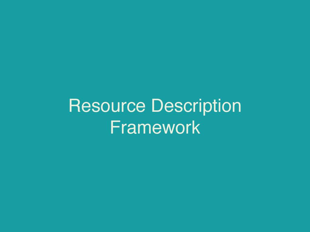 Resource Description Framework