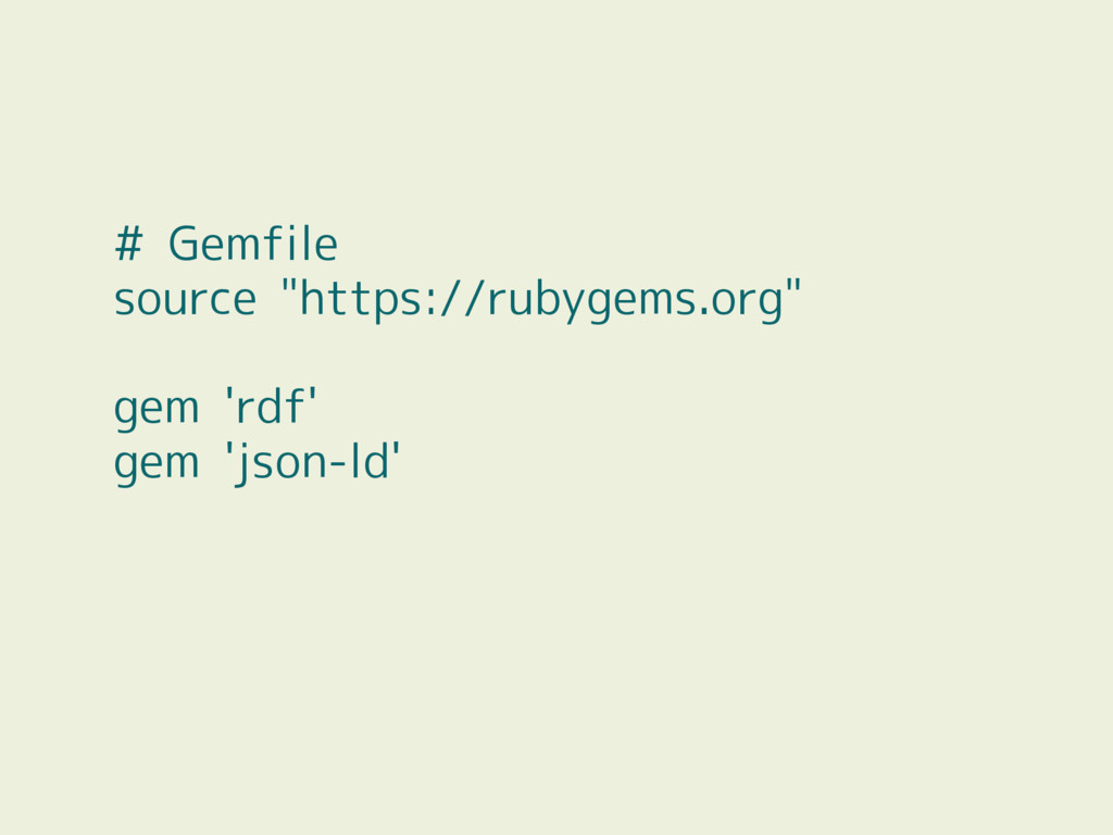 "# Gemfile source ""https://rubygems.org"" gem 'rd..."