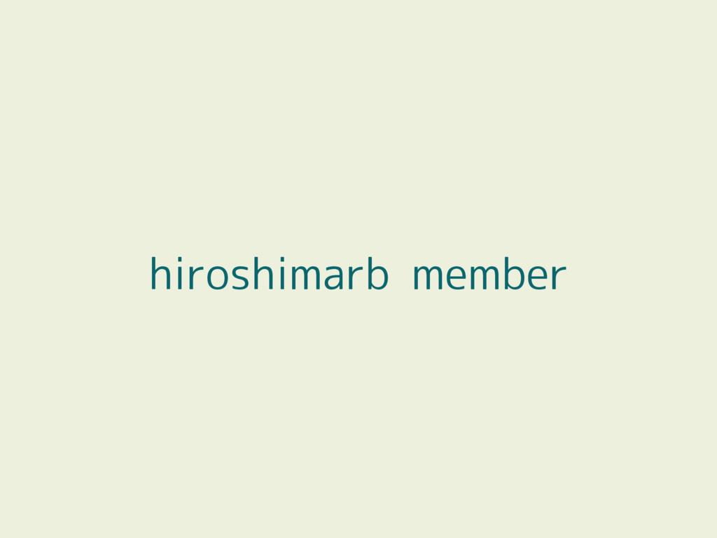 hiroshimarb member