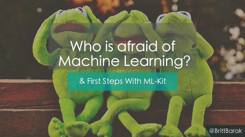 & First Steps With ML-Kit @BrittBarak Who is af...