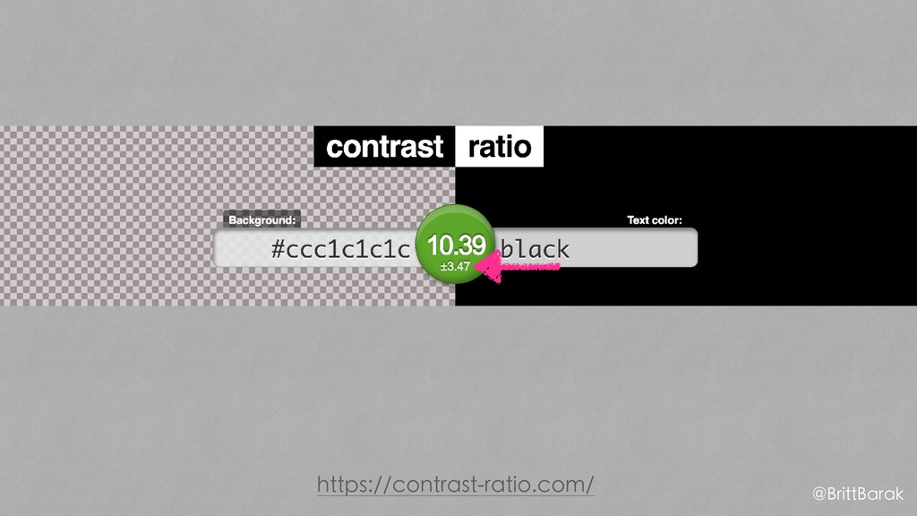 https://contrast-ratio.com/ @BrittBarak