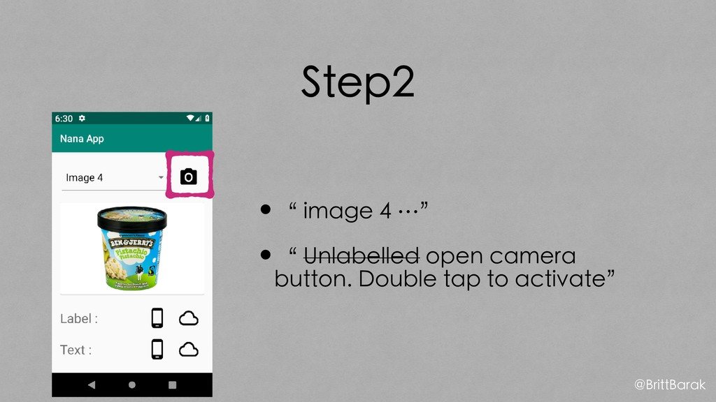 "Step2 •"" image 4 …"" •"" Unlabelled open camera b..."