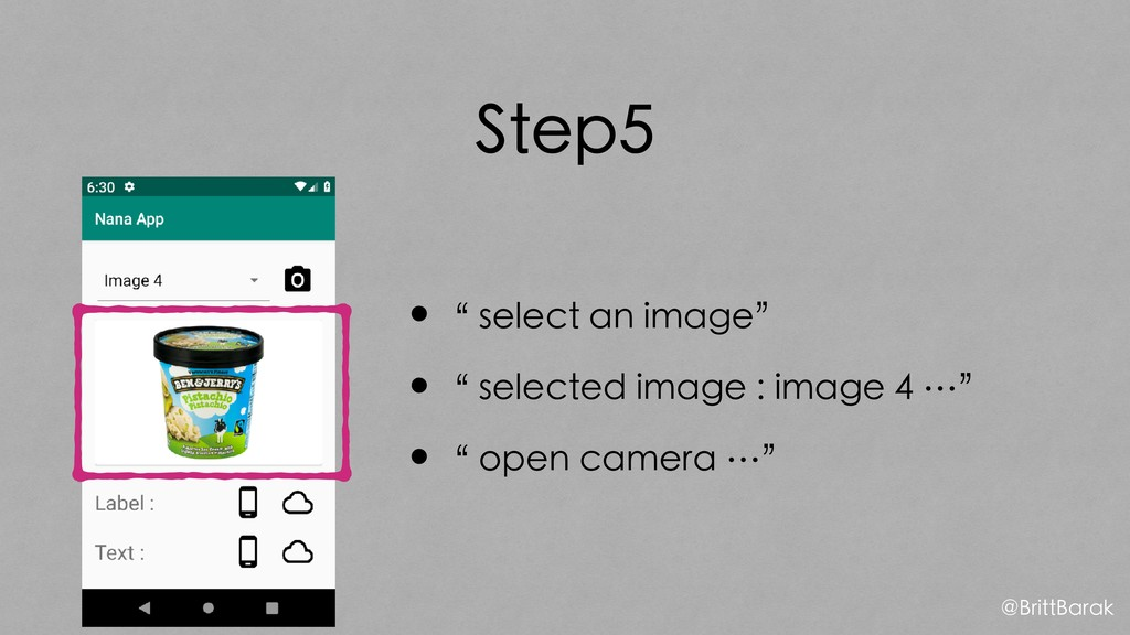 "Step5 •"" select an image"" •"" selected image : i..."