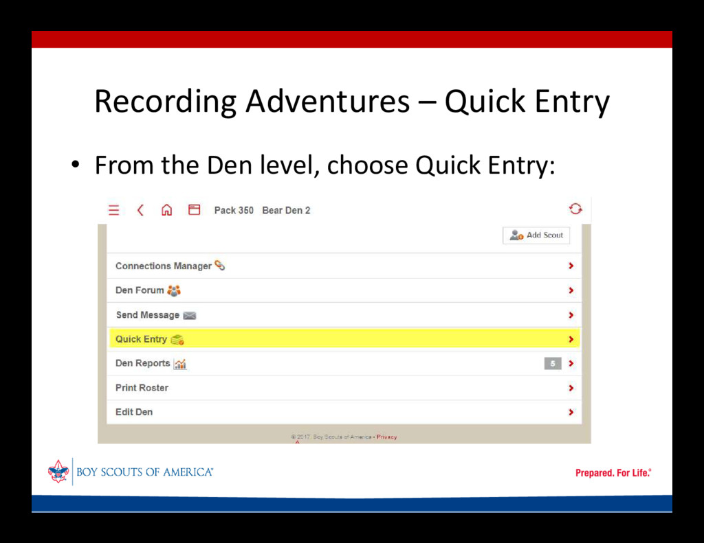 Recording Adventures – Quick Entry • From the D...