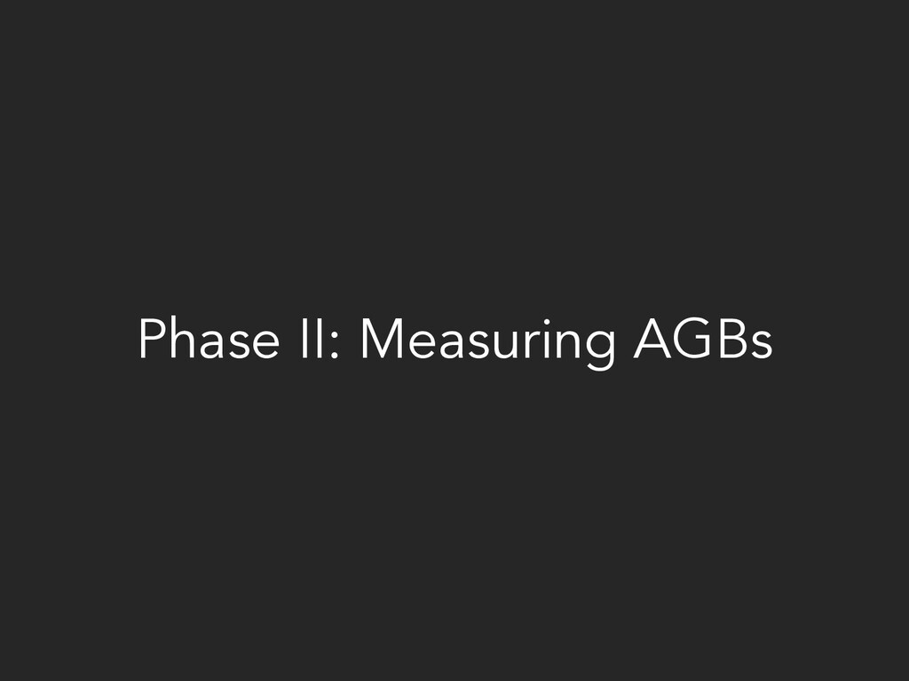Phase II: Measuring AGBs