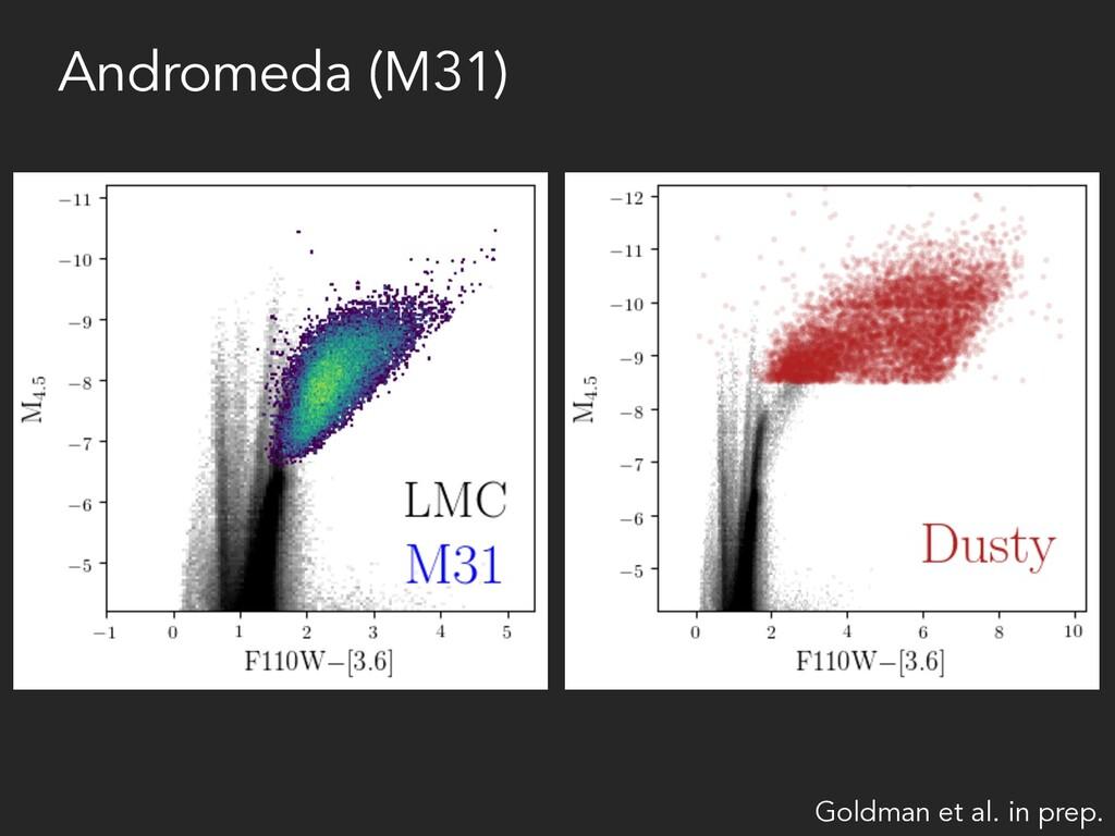Andromeda (M31) Goldman et al. in prep.