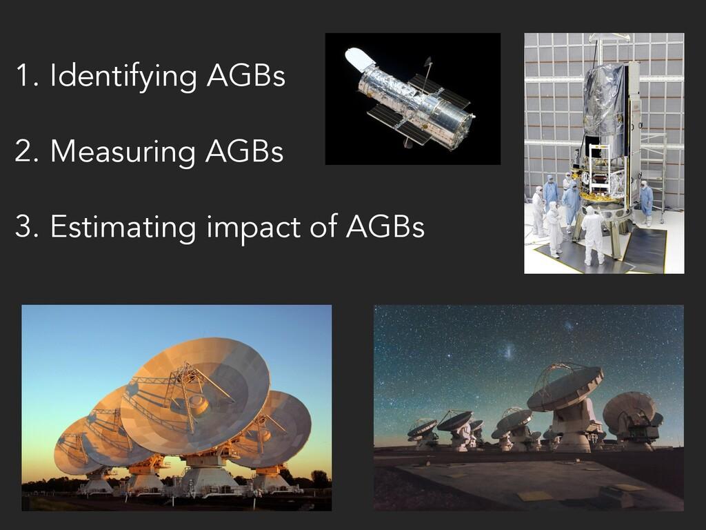 1. Identifying AGBs 2. Measuring AGBs 3. Estima...