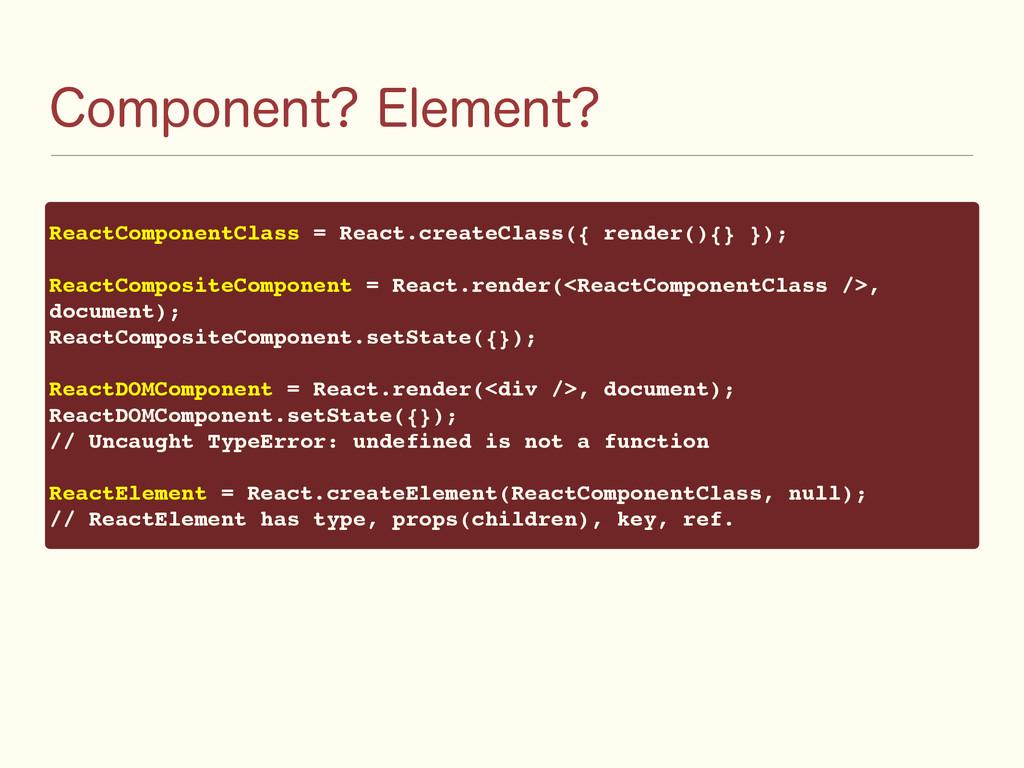 $PNQPOFOU &MFNFOU ReactComponentClass = React....