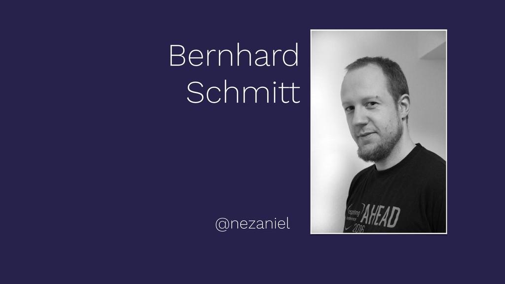 Bernhard Schmitt @nezaniel