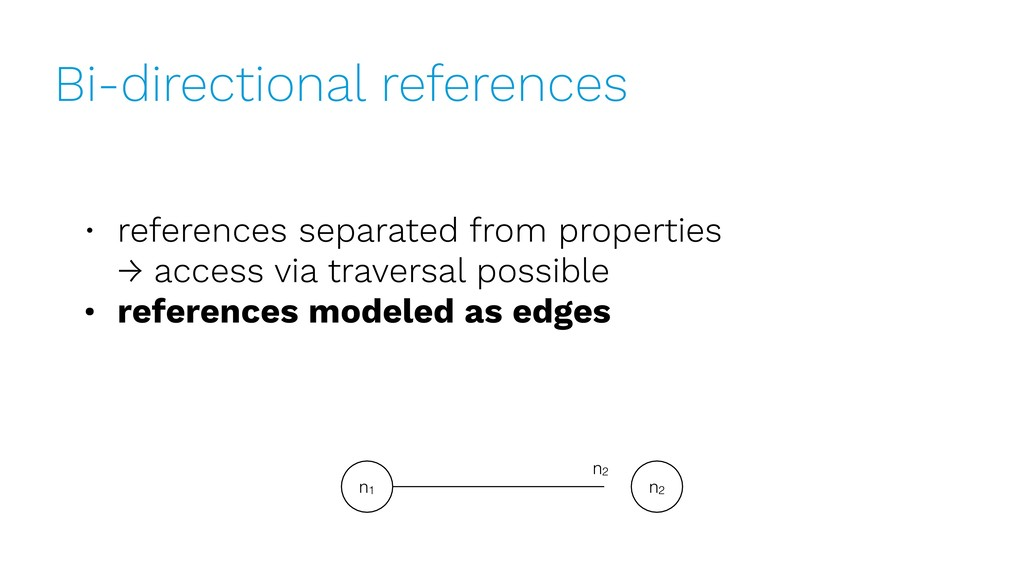 Bi-directional references • references separate...